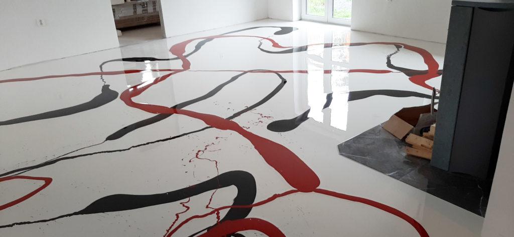 Polyuretanová podlaha do rodinného domu.