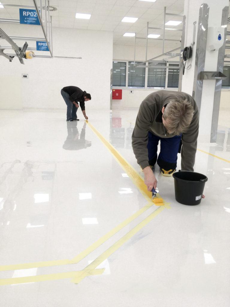 Realizace epoxidové podlahy firmou Levelo.